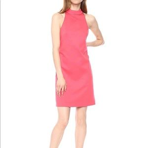 Trina Turk River Mock Neck Keyhole Back Dress